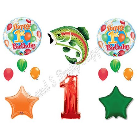 The Big One Fishing 1st Birthday Party Balloons Decoration Supplies