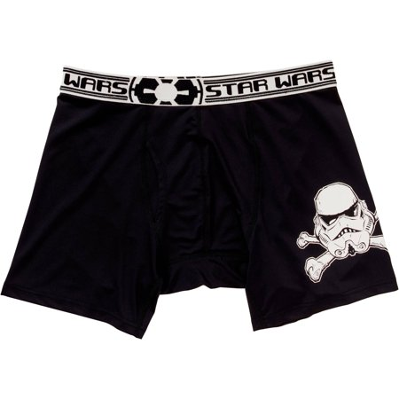 star wars skull and crossbones mens action boxer briefs small 28 30. Black Bedroom Furniture Sets. Home Design Ideas