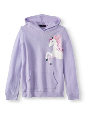 3ca4a61d3097 Product Image Foil Unicorn Hoodie (Big Girls)