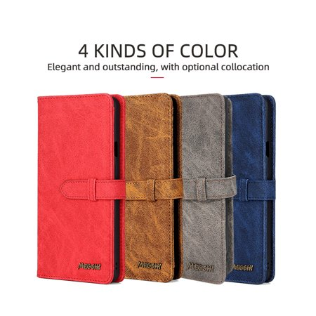 New Arrival High Quality Flip Pu Leather Protective Phone Cover smartphone for Samsung N10 Pro (Nave Blue)