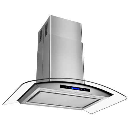 "Image of AKDY 36"" Stainless Steel Island Mount Range Hood Stove Kitchen Low Noise Vent with Touch Control Panel"