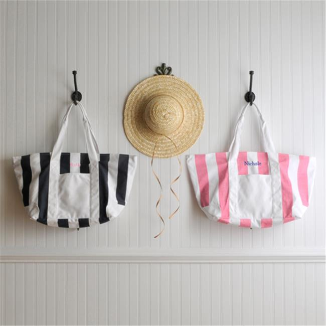 JDS Marketing and Sales Candy Striped Beach Tote Bag