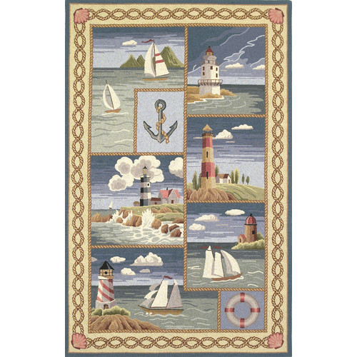 KAS Rugs Colonial Coastal Views Nautical Novelty Rug