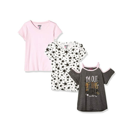 Extreme Cold Bib - Cold Shoulder Graphic, Print and Solid Tees, 3-Pack (Little Girls & Big Girls)