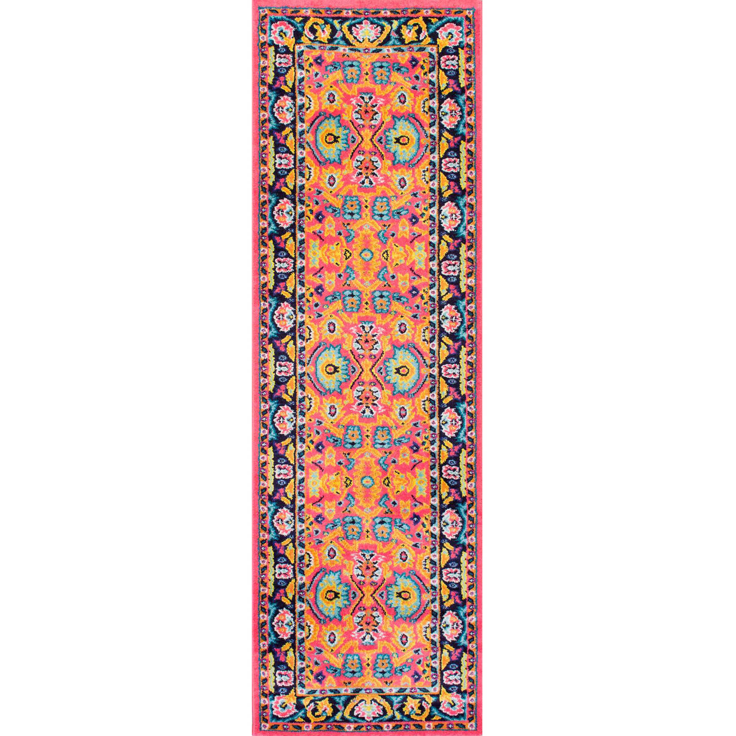 nuLOOM Machine-Made Floral Connor Area Rug or Runner