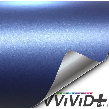 Matte Metallic Navy Blue (Ghost) Vinyl Sticker Architectural Vinyl Adhesive Tile Wall Decor Decal Car Wrap VViViD+