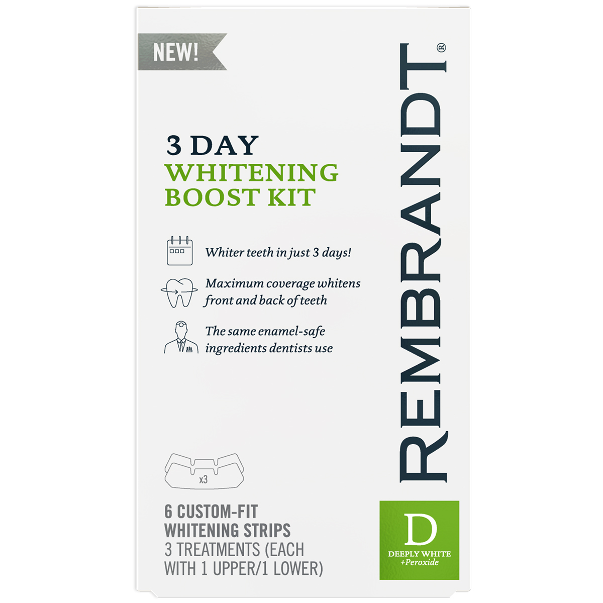 Rembrandt 3 Day Whitening Boost Kit (Pack of 4)
