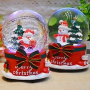 Clearance! Christmas Crystal Ball Music Box Floating Snow with Lights