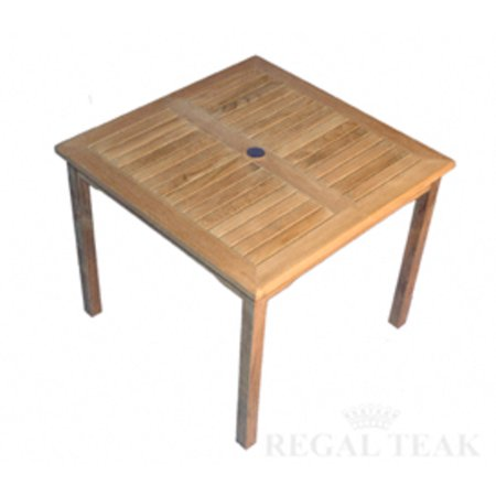 48 natural teak square outdoor patio wooden bistro side for Outdoor teak side table