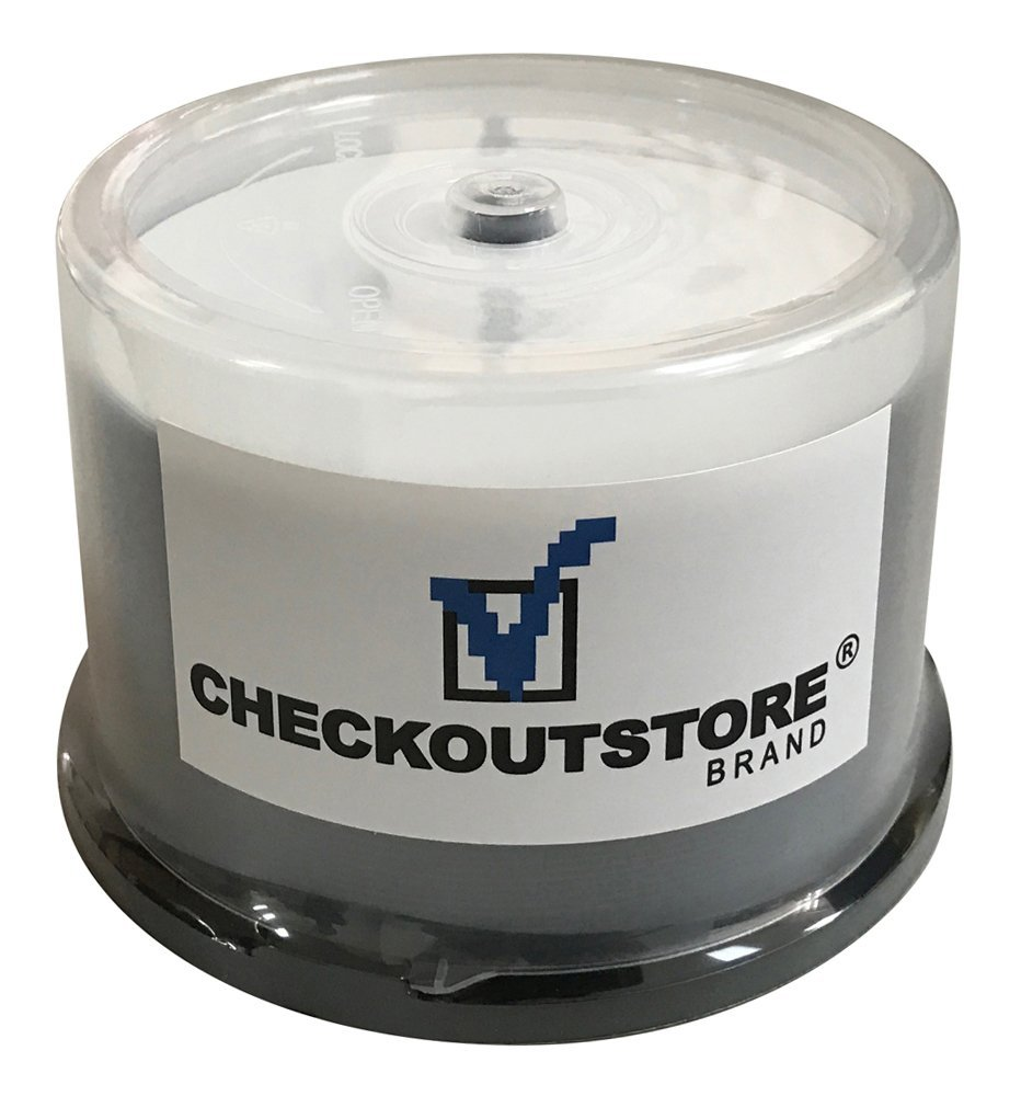 (100) CheckOutStore Premium 16x DVD-R 4.7GB in Spindle (White Inkjet Hub)