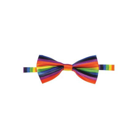 Adult Rainbow Gay Pride Costume Multi Colored Accessory Bowtie - G-a-y Halloween London