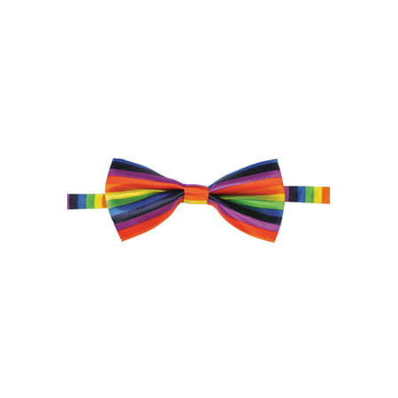 Adult Rainbow Gay Pride Costume Multi Colored Accessory Bowtie