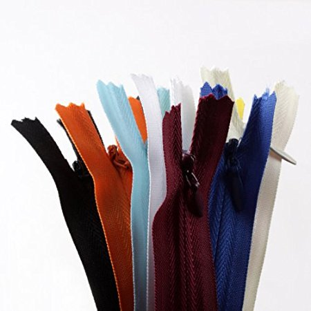 20pcs 9 Inch Assorted Color Invisible Zippers Closed Clothes Sewing Craft