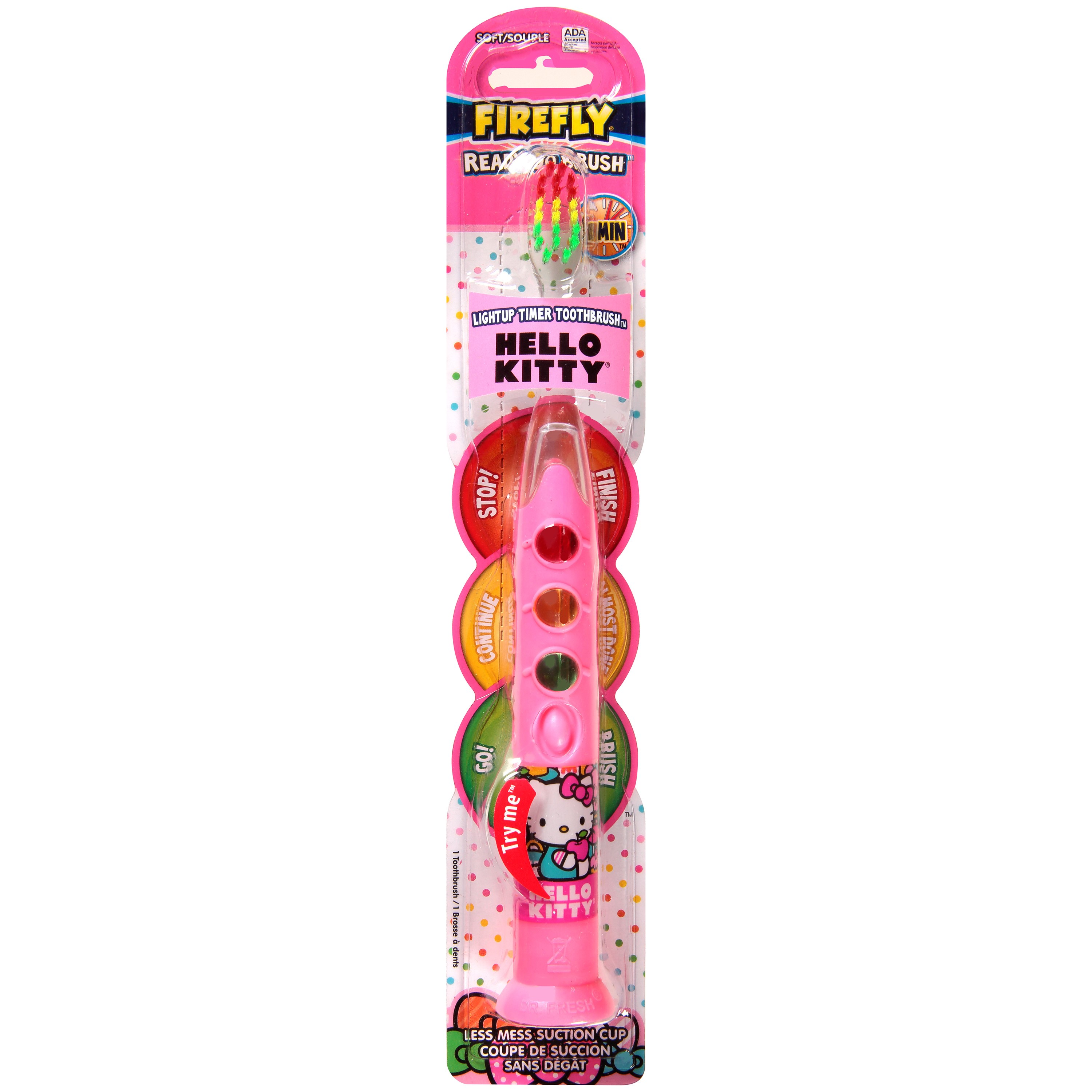 Firefly Ready Go Brush Hello Kitty Soft Light Up Timer Toothbrush