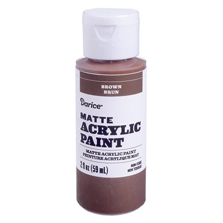 Use this matte acrylic paint in brown for your next craft project. It's simple to store and save for multiple projects.