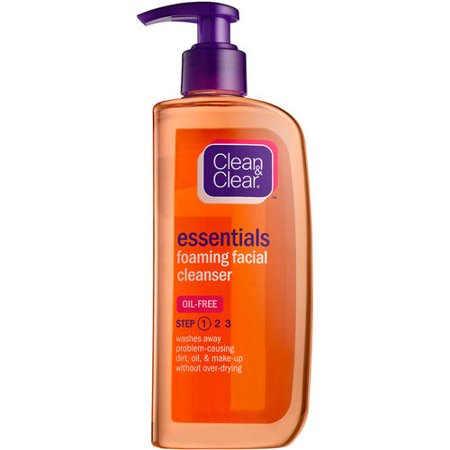 Clean and clear oil free foaming facial cleanser