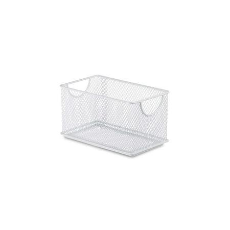 Design Ideas Stacking Bin, 4.5x8in.,White Metal - Home Office Storage Ideas