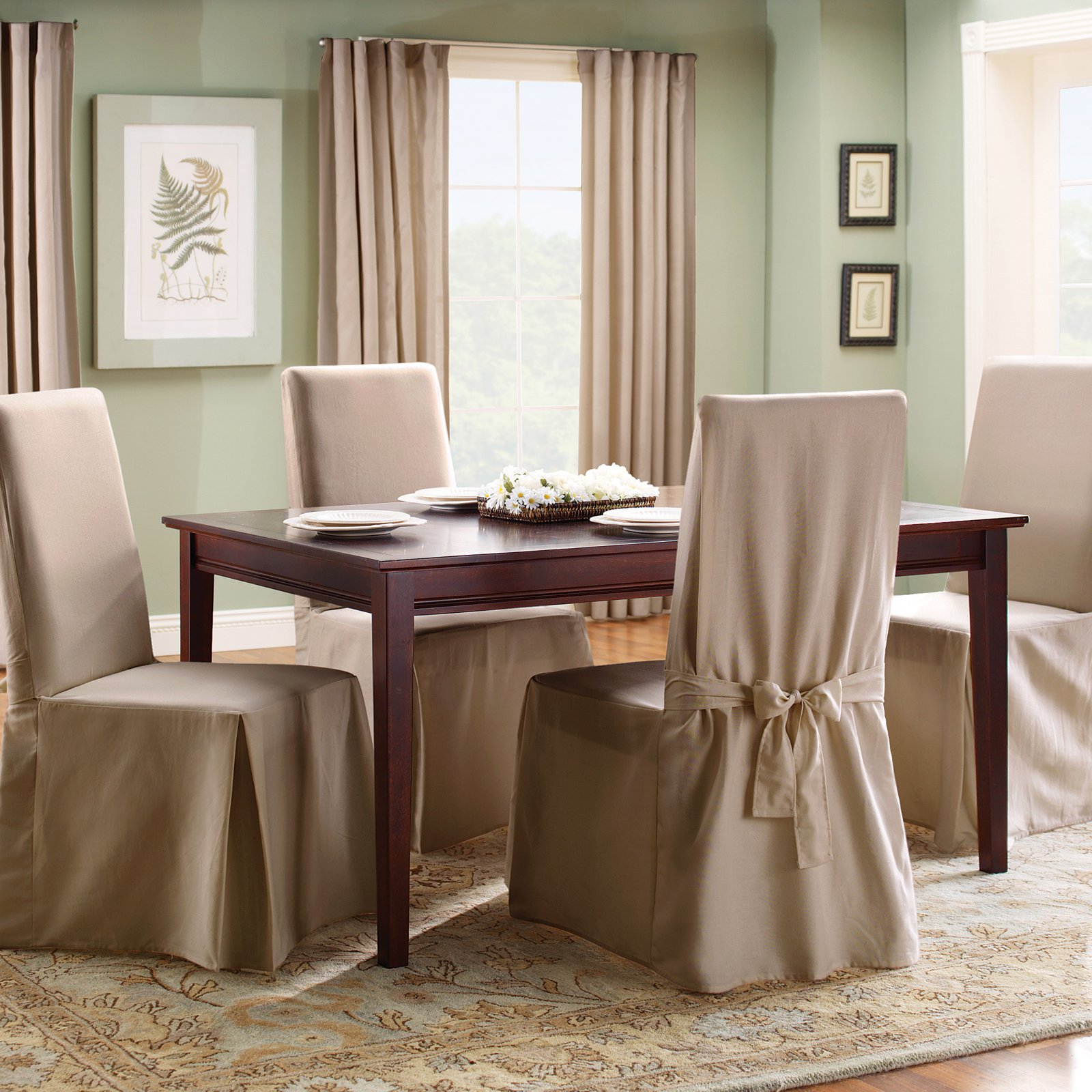 Sure Fit Cotton Duck Dining Chair Slipcover   Walmart.com