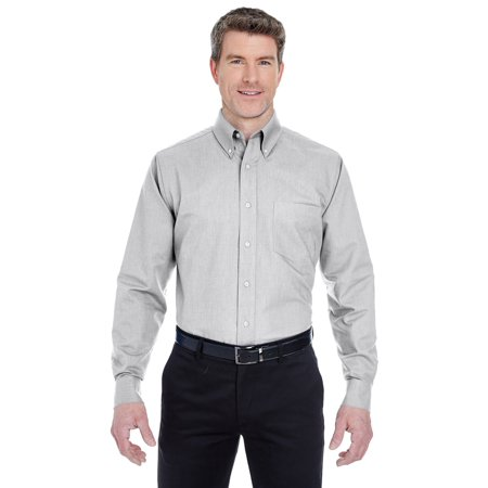 Ultraclub Mens Classic Wrinkle Free Extended Tail Oxford Shirt