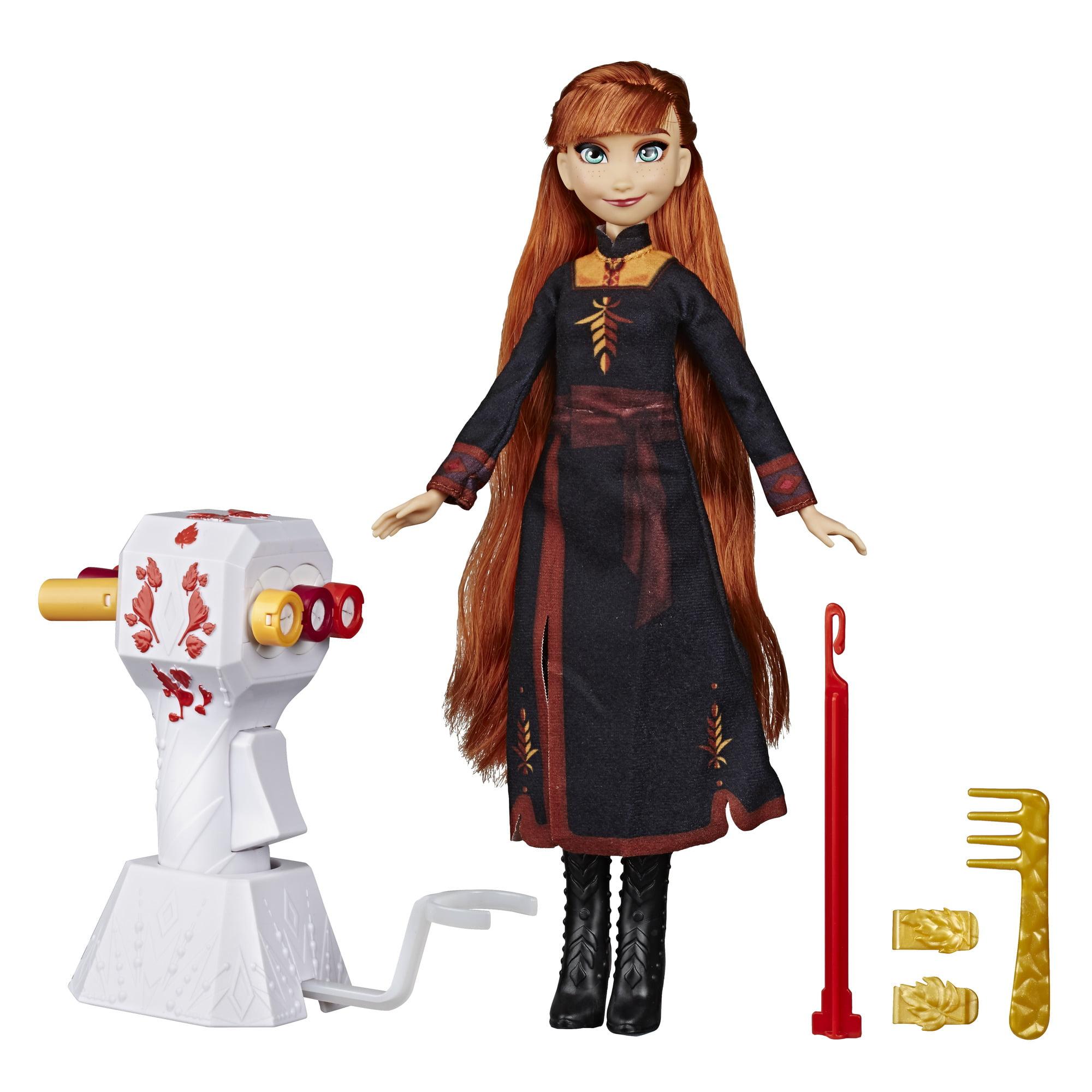 Disney Frozen 2 Sister Styles Long Hair Anna Fashion Doll with Automatic Hair Braiding Tool