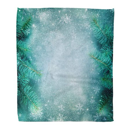ASHLEIGH Throw Blanket 58x80 Inches Green Evergreen Christmas Tree Red Fir Winter Warm Flannel Soft Blanket for Couch Sofa