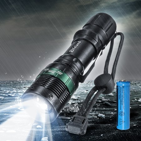 Mohoo T6 LED 2000 Lumens Zoom Adjustable Focus 3 Modes Flashlight Torch Lamp Light Bright for Camping Hiking -