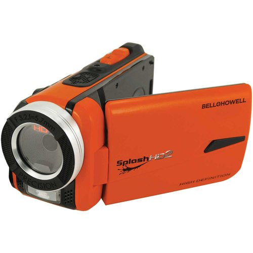 Bell+Howell Orange Wv50hd-o SplashHD2 Underwater Full HD Camcorder by Bell and Howell