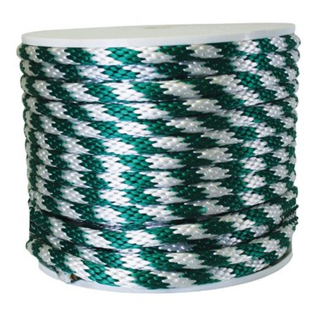Wellington Derby Rope Poly 450 Lb. Green, White 5/8