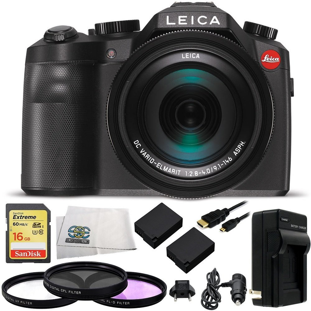 Leica V-LUX (Typ 114) Digital Camera with 16GB Extreme UHS-I U3 SDHC Memory Card (Class 10) + 10 Piece... by SSE