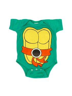 Teenage Mutant Ninja Turtles Green Costume Infant Baby Onesie Romper