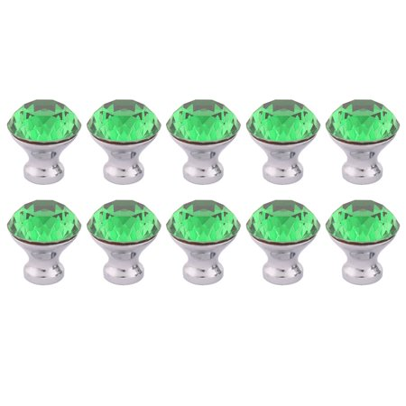 Uxcell Household Furniture Drawer Cabinet Handle Knob Green 1.2 Inch Outer Dia 10 Pcs (Antique Green Bone Handles)