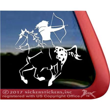 Archery Decal (Mounted Archery Appaloosa Horse | High Quality Vinyl Window)