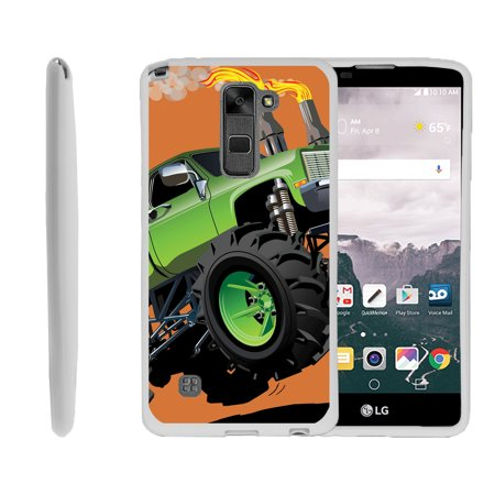 LG G Stylo 2, LG G Stylus 2 LS775, Flexible Case [FLEX FORCE] Slim Durable TPU Sleek Bumper with Unique Designs - Monster Truck