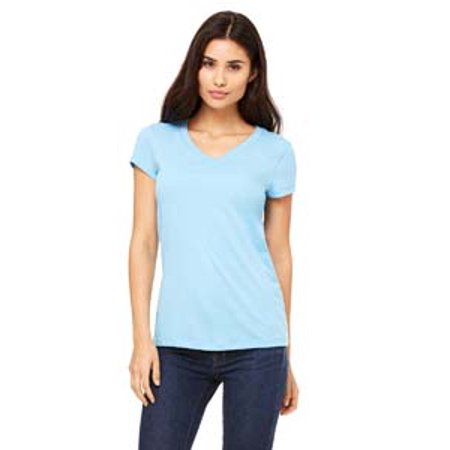 B6005 Be 6005 S/S V-Neck Jersey Tee Ocean Blue M - image 1 of 1