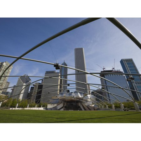 Jay Pritzker Pavilion Designed by Frank Gehry, Millennium Park, Chicago, Illinois, USA Print Wall Art By Amanda Hall ()