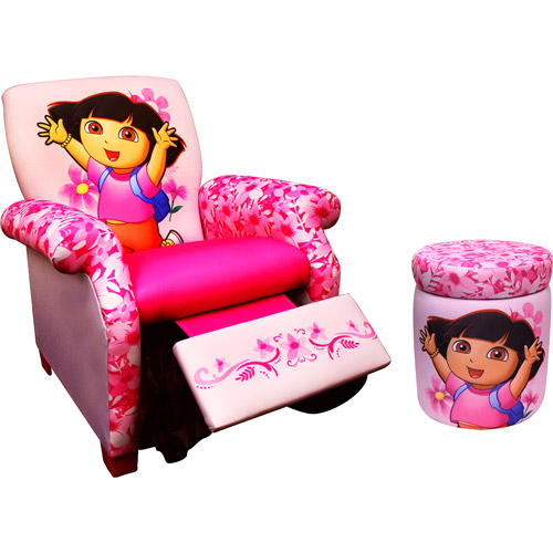 Dora Recliner and Storage Ottoman Bundle