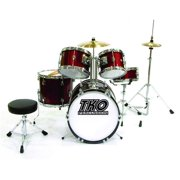 TKO TKO101WR Complete Junior Drum Set, Wine Red - 5 Piece