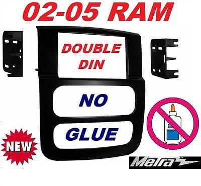 Car Radio Stereo Double Din Dash Kit for 2002-2005 Dodge Ram 1500 2500 3500