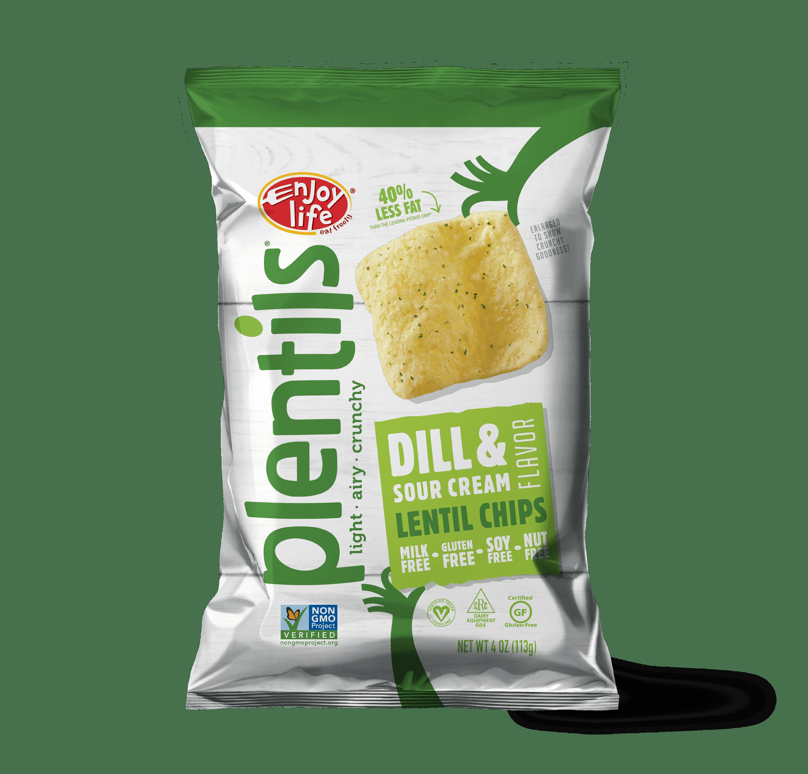 Enjoy Life Plentils Lentil Chips Dill & Sour Cream, 4.0 OZ
