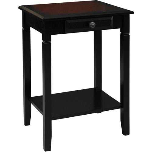 Linon Home Decor Camden Accent Table, Black Cherry