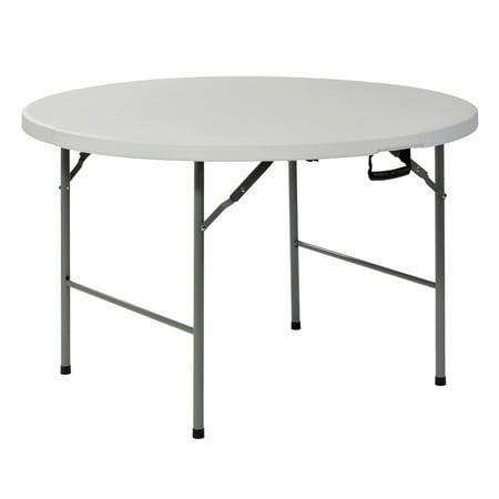 Sandusky Frpt4ft 48 Quot Round Plastic Fold In Half Table In