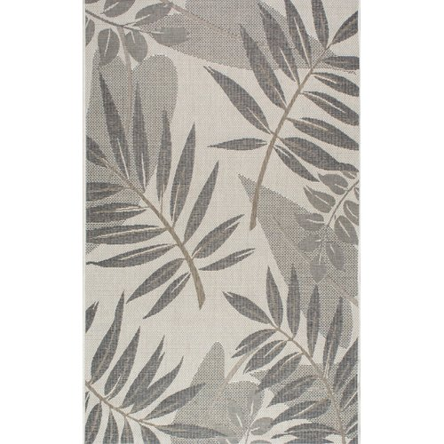 Bay Isle Home Rowley Gray Indoor/Outdoor Area Rug