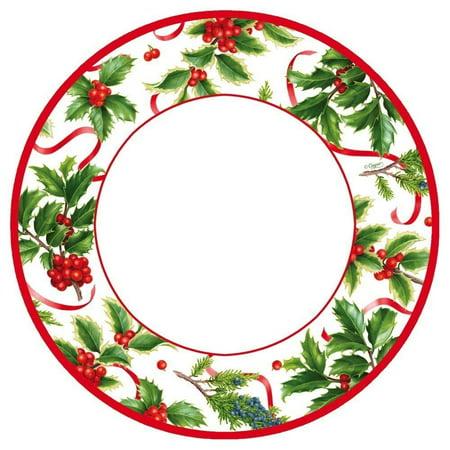 Christmas Paper Dinner Plates RD 8pk Christmas Trimmings