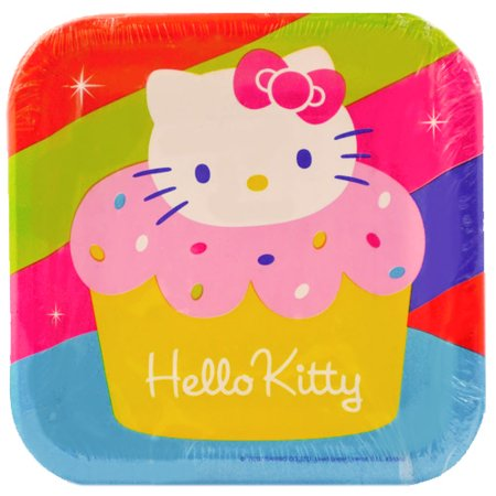 Cupcake Party Plates (Hello Kitty 'Cupcake' Small Paper Plates)