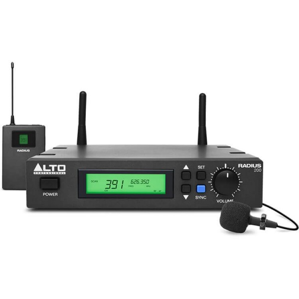 Alto Professional Radius 200L Wireless Audio (Wireless Lavalier Microphone) by