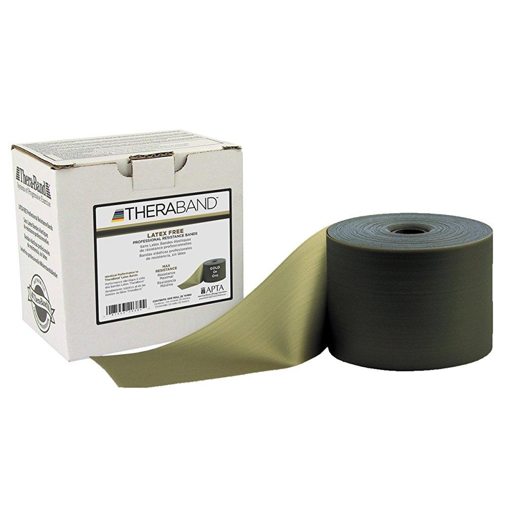TheraBand professional non-latex resistance band, gold, m...