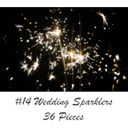 "14"" Wedding Sparklers 36-Count"
