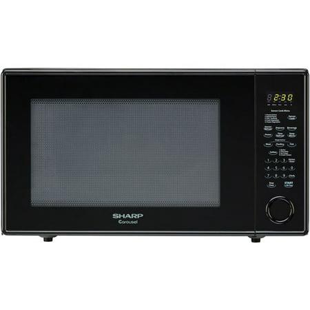 sharp r659yk carousel countertop microwave oven 2 2 cu ft 1200w black