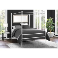Deals on Mainstays Metal Canopy Bed