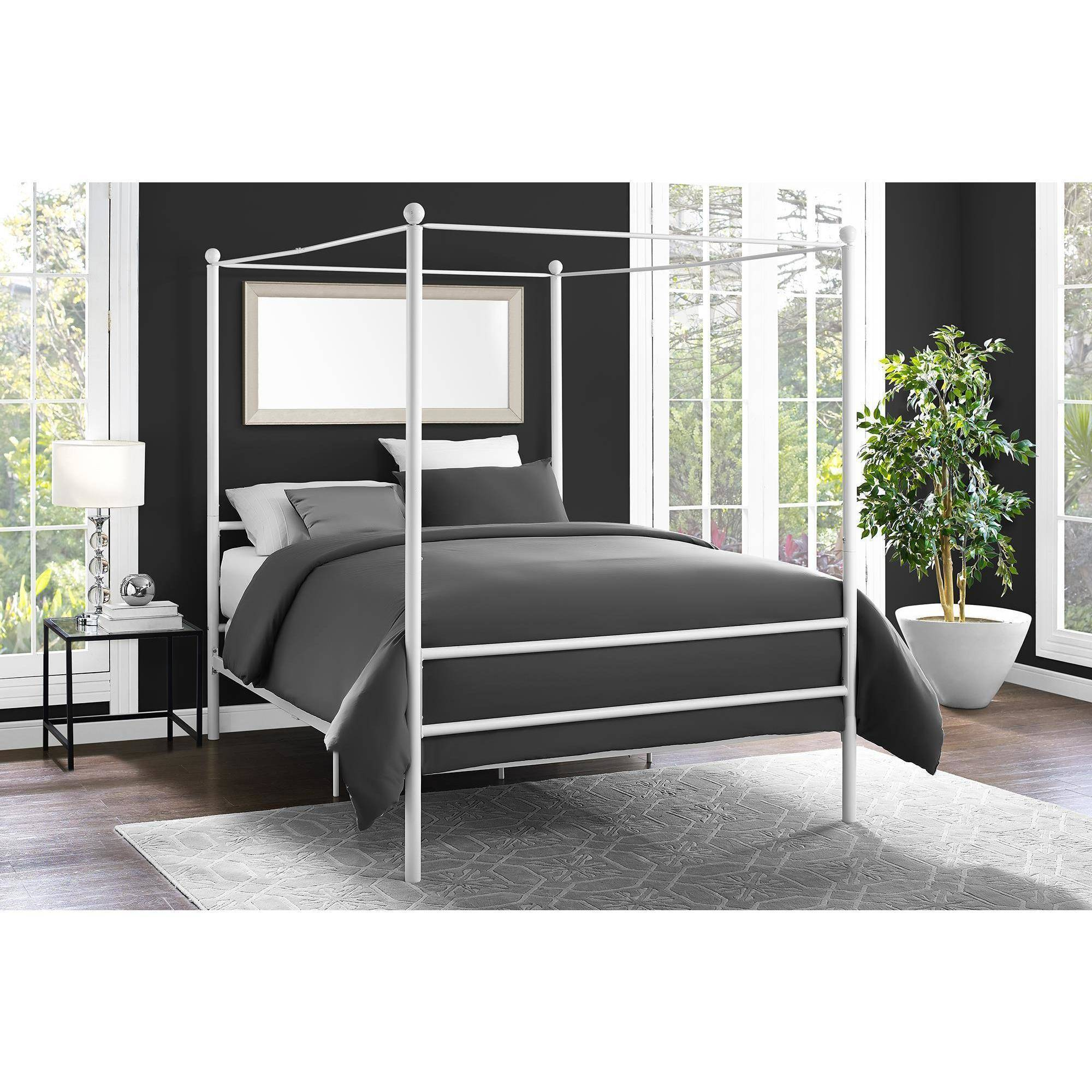 mainstays metal canopy bed multiple colors multiple sizes